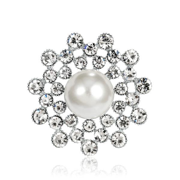 Alloy Korea Geometric brooch  (white) NHDR2372-white