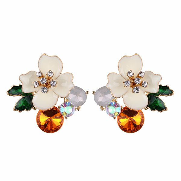 Alloy Fashion Flowers earring  (white) NHJQ9862-white