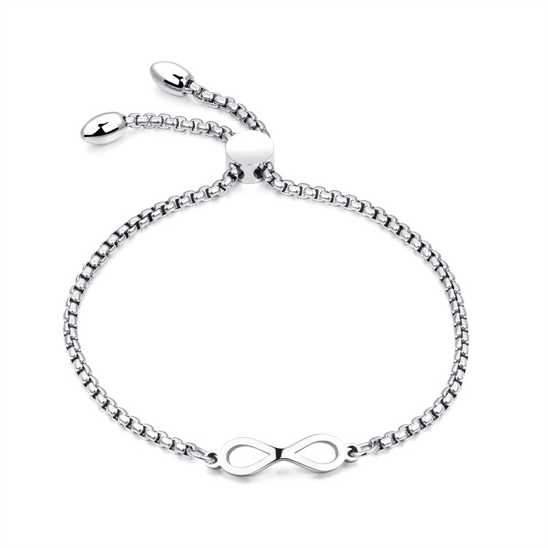 Titanium&Stainless Steel Korea Geometric bracelet  (Steel models) NHOP1633-Steel models