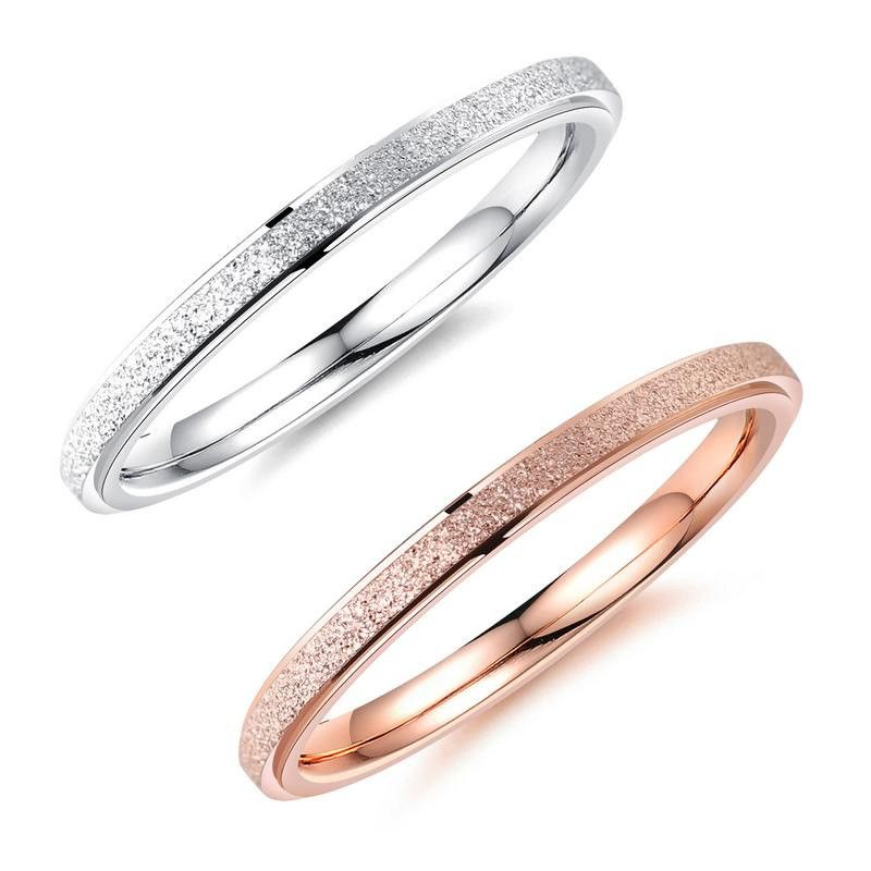 Titanium&Stainless Steel Fashion Geometric Rings  (Rose alloy on the 4th) NHOP1637-Rose alloy on the 4th
