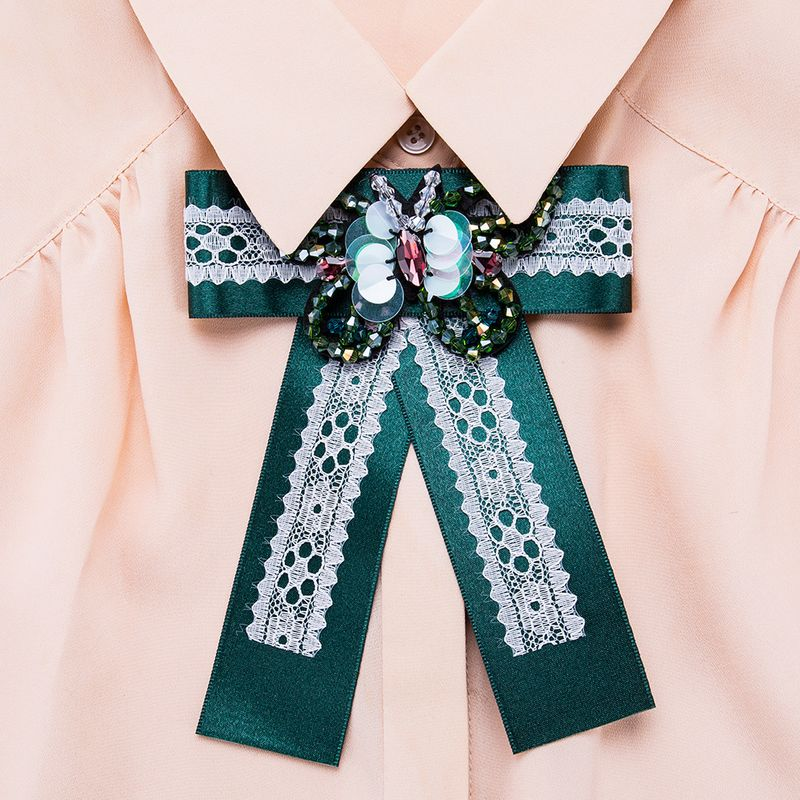 Alloy Fashion Bows brooch  (green) NHJE0996-green