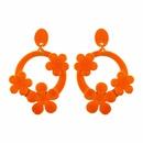 Imitated crystalCZ Fashion Geometric earring  red NHJQ9865red
