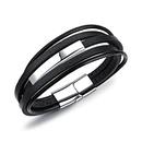 Leather Fashion Geometric bracelet  brown NHOP1636brown