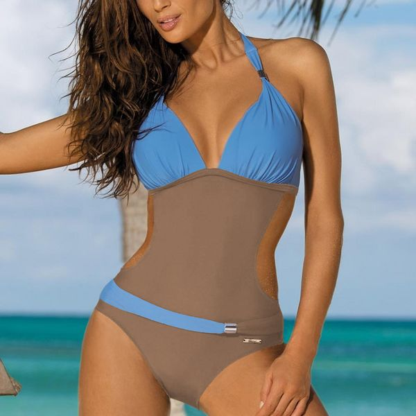 Polyester Fashion  Swimsuit  (Picture color 1-S) NHHL0002-Picture color 1-S