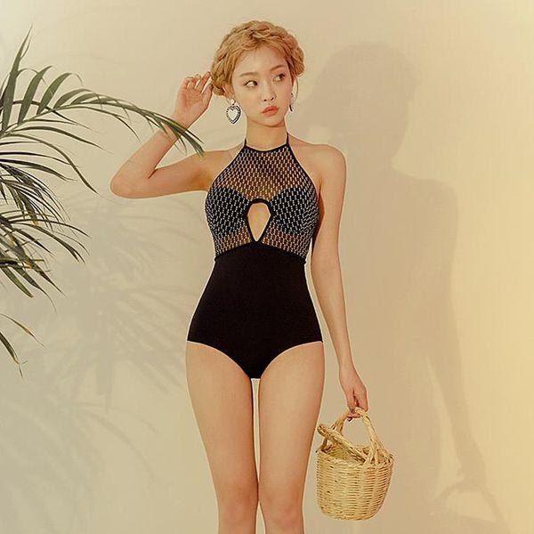 Polyester Fashion  Swimsuit  (Black-M) NHHL0222-Black-M