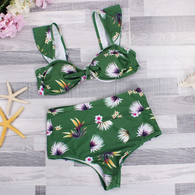 Cotton Fashion  Bikini  (Green-s) NHHL0281-Green-s