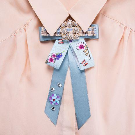 Fashion Alloy Rhinestone brooch Bows (blue)  NHJE0999-blue's discount tags