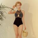 Polyester Fashion  Swimsuit  BlackM NHHL0222BlackM