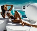Polyester Fashion  Swimsuit  WhiteS NHHL0227WhiteS