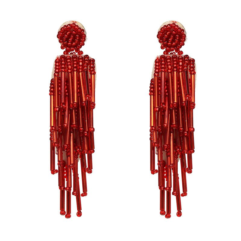 Alloy Fashion Geometric earring  (red) NHJJ3964-red