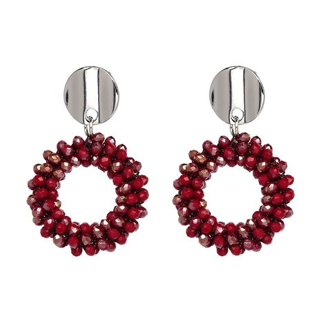 Alloy Fashion Geometric earring  (red) NHJJ3967-red's discount tags