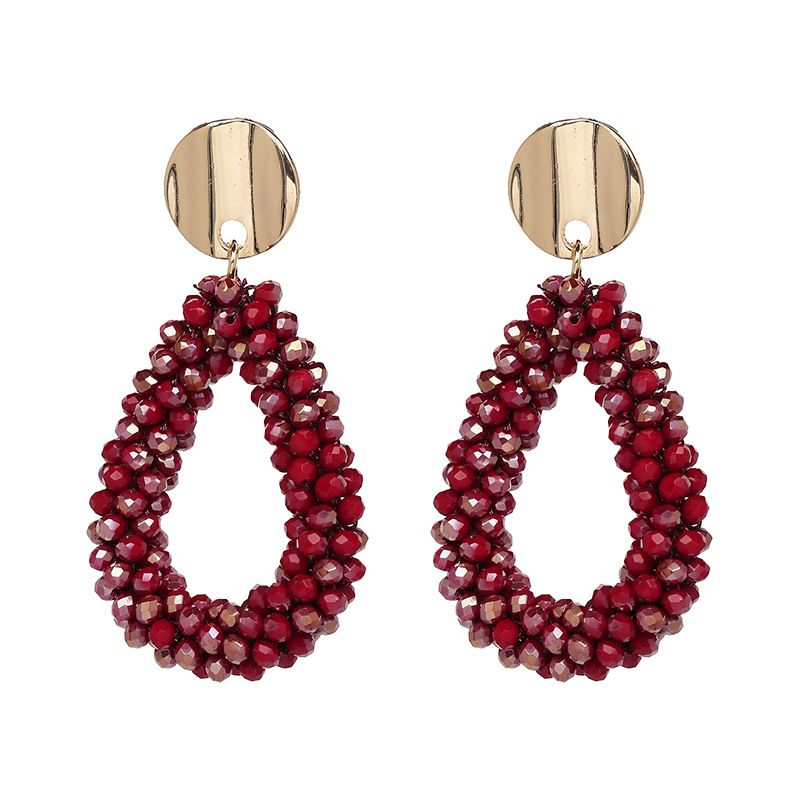 Alloy Fashion Geometric earring  (red) NHJJ3974-red