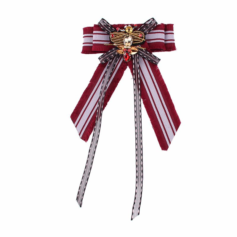 Alloy Fashion Bows brooch  (red) NHJQ9872-red