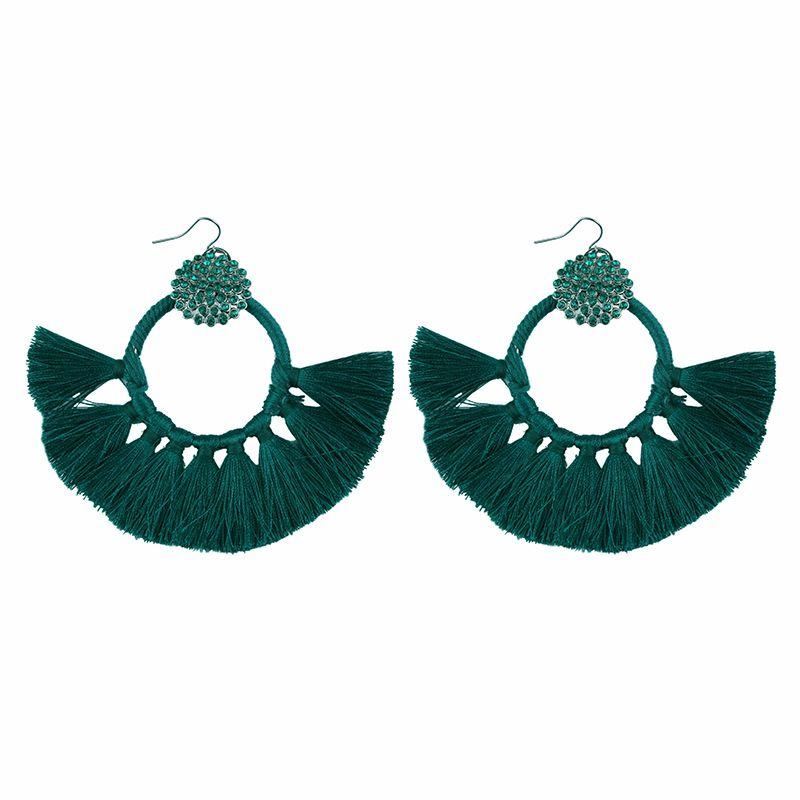Acrylic Fashion Geometric earring  (green) NHJQ9882-green