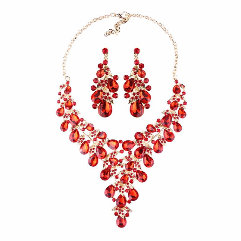 Alloy Fashion Sweetheart necklace  (red) NHJQ9901-red