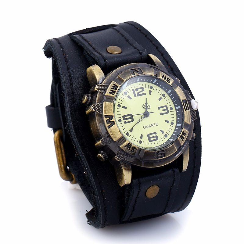 Leather Fashion Geometric bracelet  (black) NHPK1241-black