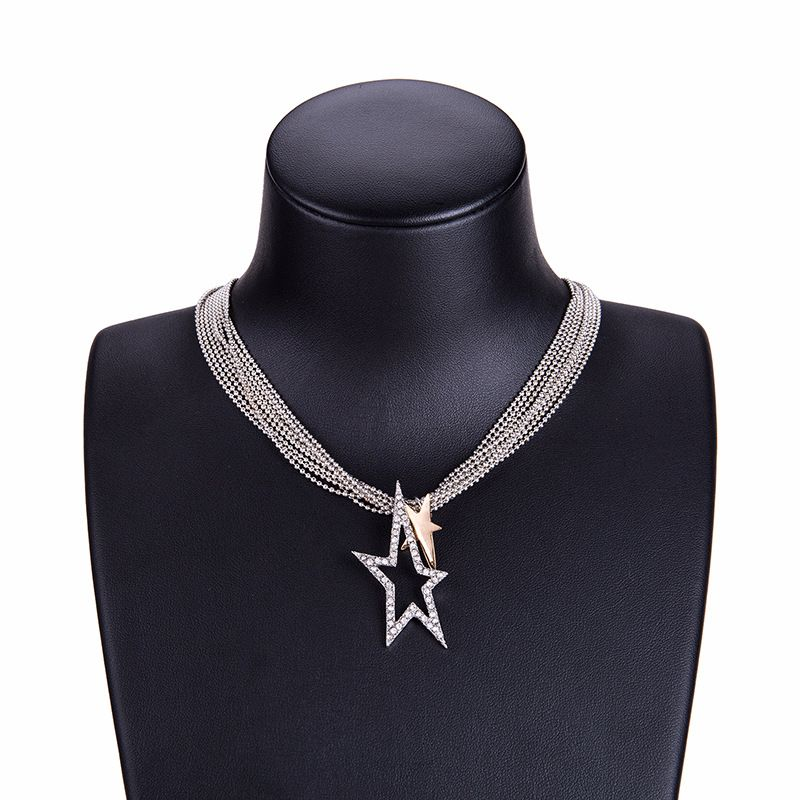 Alloy Fashion Geometric necklace  (Alloy) NHYT0921-Alloy
