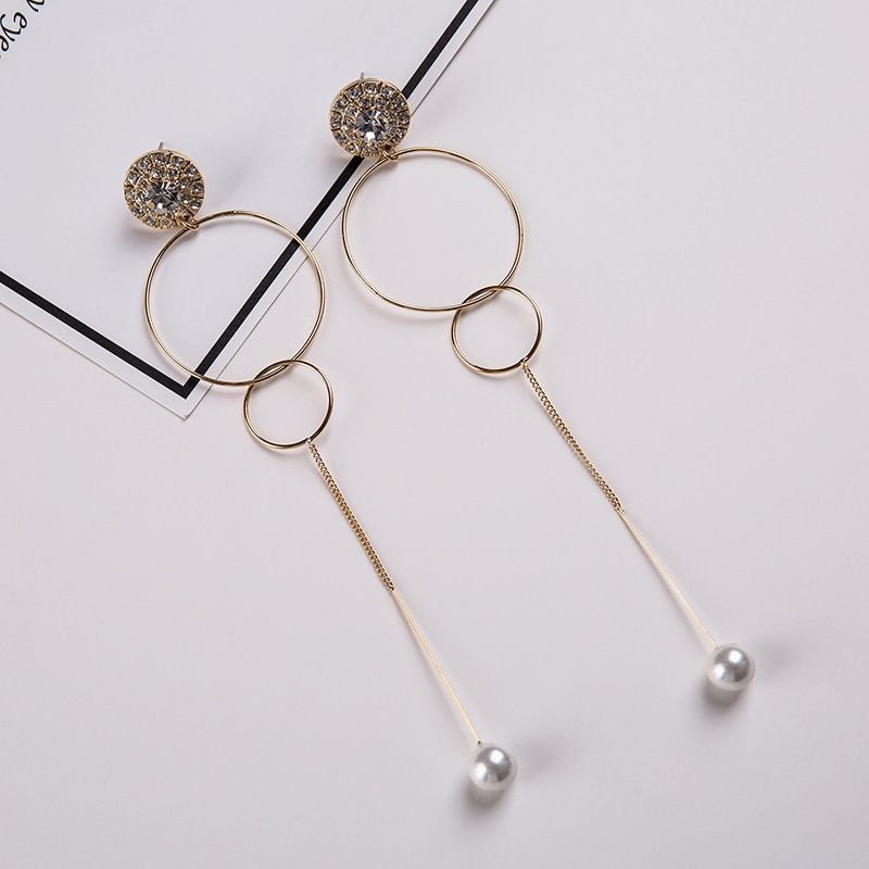 Alloy Korea Geometric earring  (Alloy) NHYT0922-Alloy