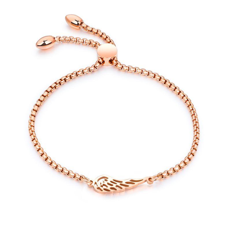 Titanium&Stainless Steel Korea Geometric bracelet  (Rose alloy) NHOP1735-Rose alloy