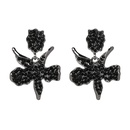 Alloy Fashion Flowers earring  black NHJJ3971black