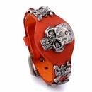 Leather Fashion Geometric bracelet  Big red NHPK1246Big red