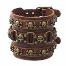 Leather Fashion Geometric bracelet  Bronze NHPK1248Bronze