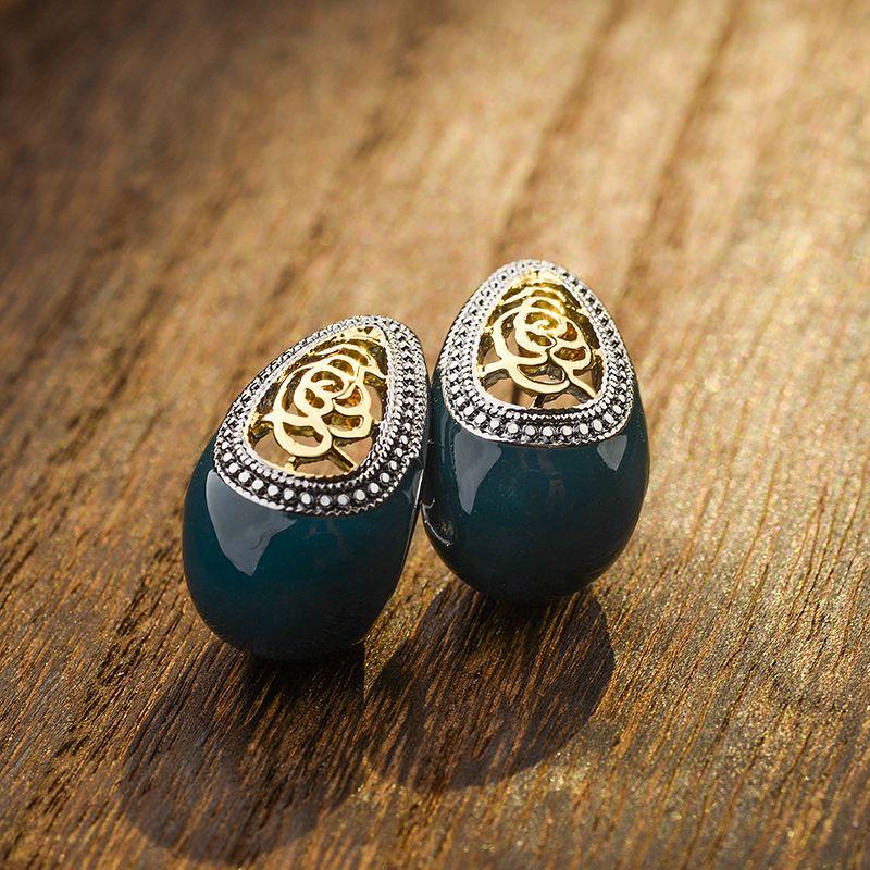 Alloy Fashion  earring  (blue) NHLJ3650-blue