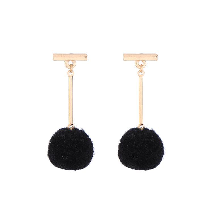 Alloy Fashion Geometric earring  Black 1 NHQD4406Black 1