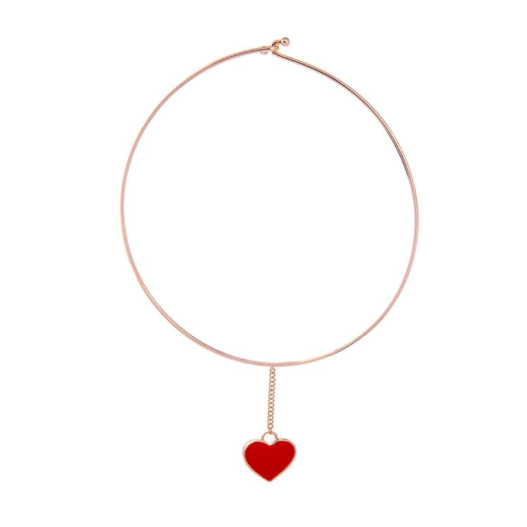 Alloy Fashion Sweetheart Pendant  (Red -1) NHQD4410-Red -1