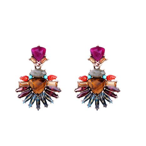 Alloy Fashion Flowers earring  (Photo Color) NHQD4437-Photo Color's discount tags