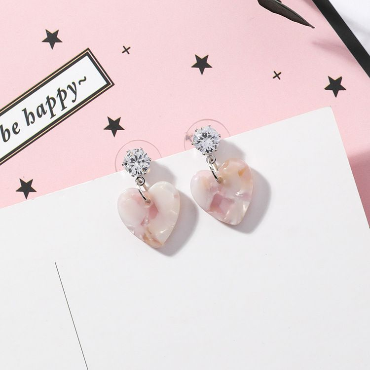 Acrylic Korea Sweetheart earring  (Main section) NHMS0442-Main section