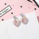 Acrylic Korea Sweetheart earring  Main section NHMS0442Main section