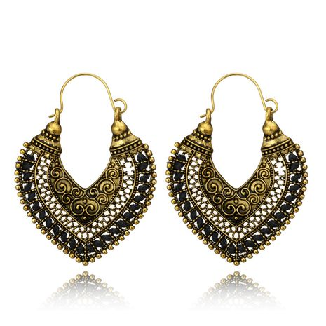 Alloy Vintage  earring  (black) NHGY1033-black's discount tags