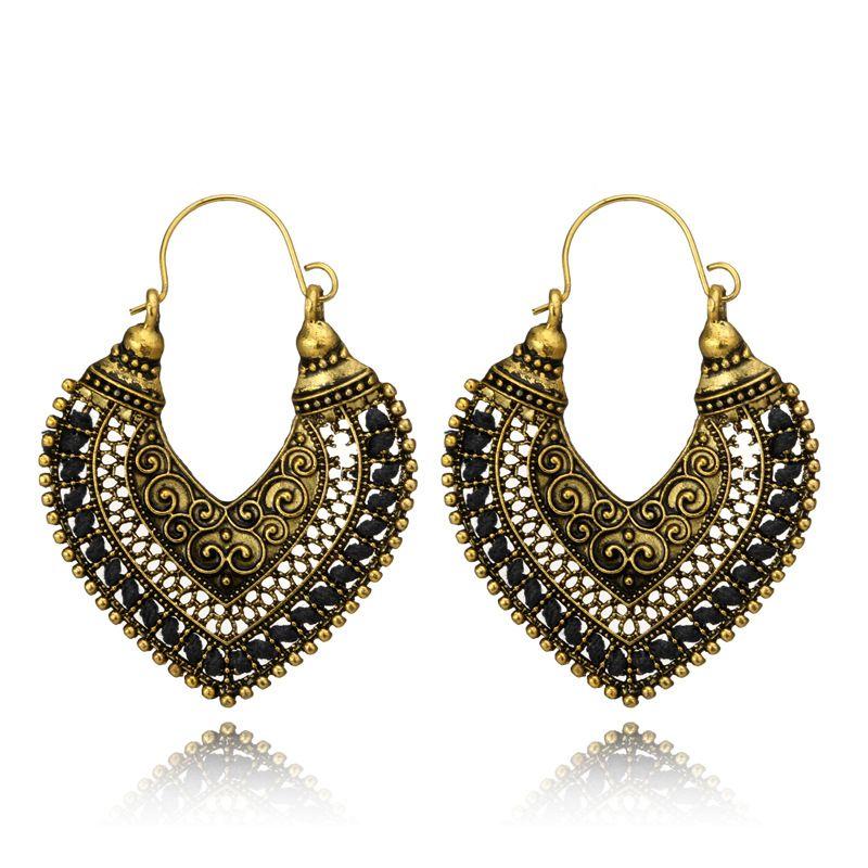 Alloy Vintage  earring  black NHGY1033black