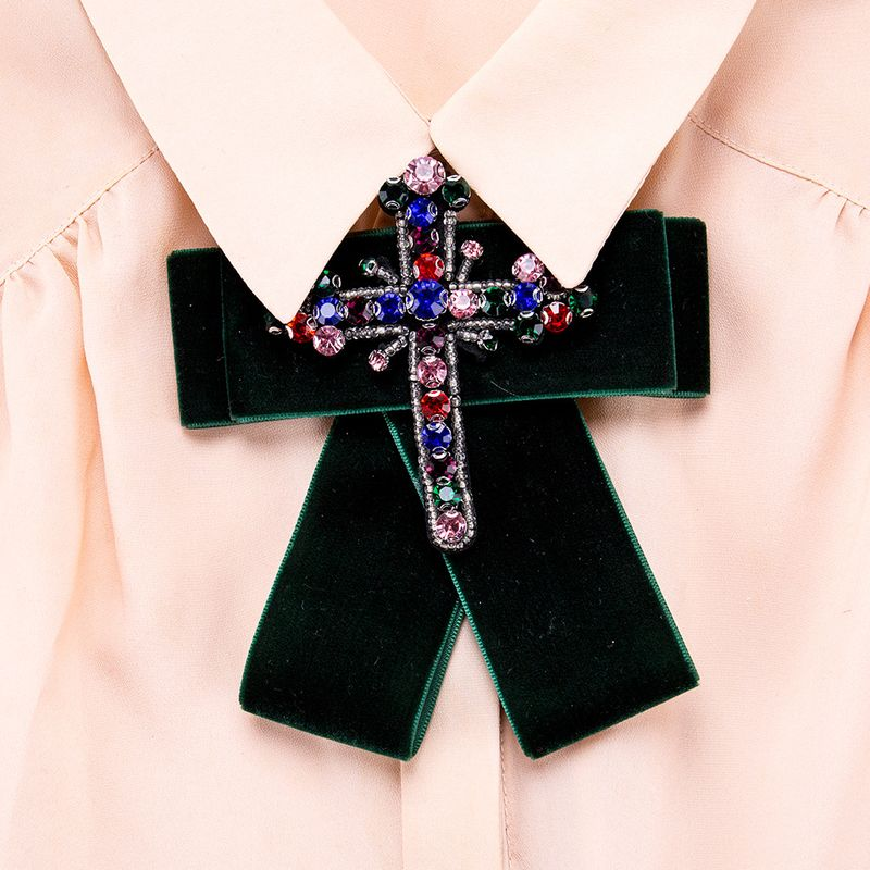 Alloy Fashion Bows brooch  (green) NHJE1021-green