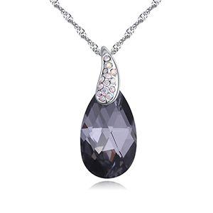 Austrian Imitated crystal Necklace  Angel Tears Black Rhinestones NHKSE27257