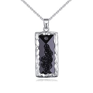 Austrian Imitated crystal Necklace  Love Trap Black NHKSE27413