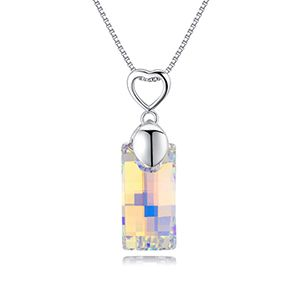 Austrian imitated crystal necklace  the heart of love color white NHKSE27409