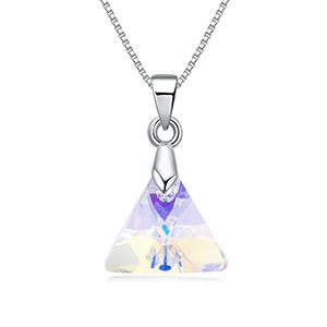 Austrian imitated crystal necklace - the support of love (color white) NHKSE27395