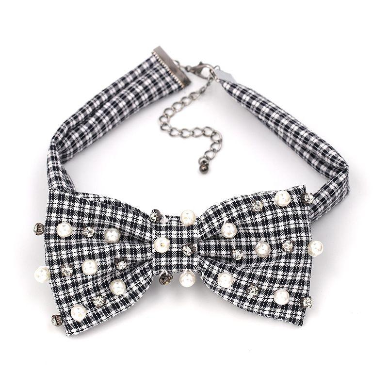 Fashion Beads Bows  NHJJ3925-black and white