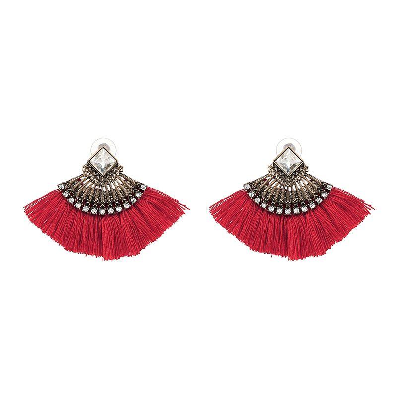 Fashion Alloy Geometric  NHJJ3927-red