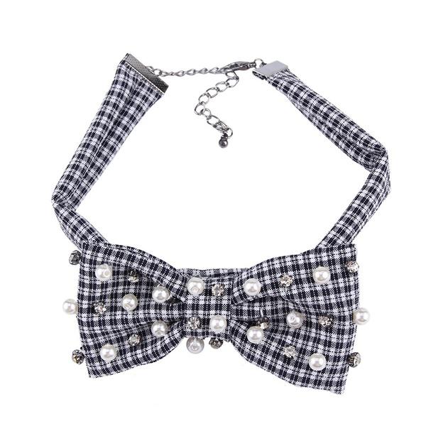 Fashion Alloy Bows  NHJQ9807-black and white stripes