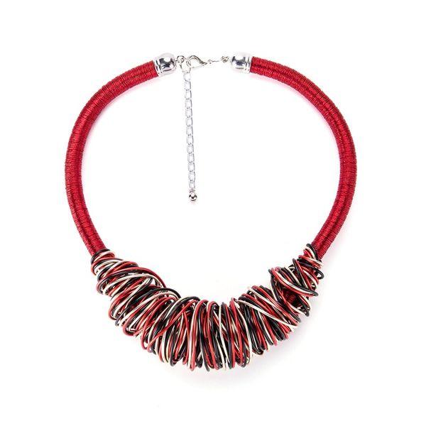 Fashion Alloy Geometric  NHYT0853-red