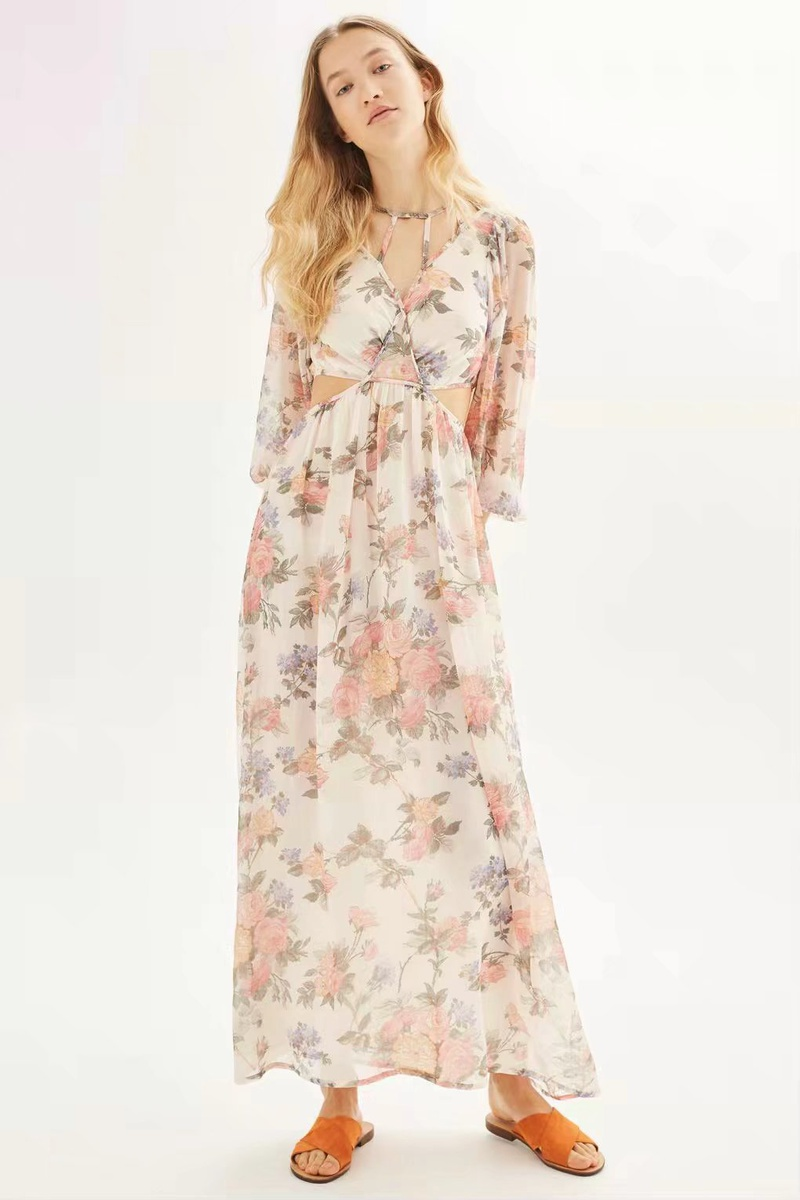 Sexy & Party Chiffon  dress  (Picture color -S)  NHAM1427-Picture color -S