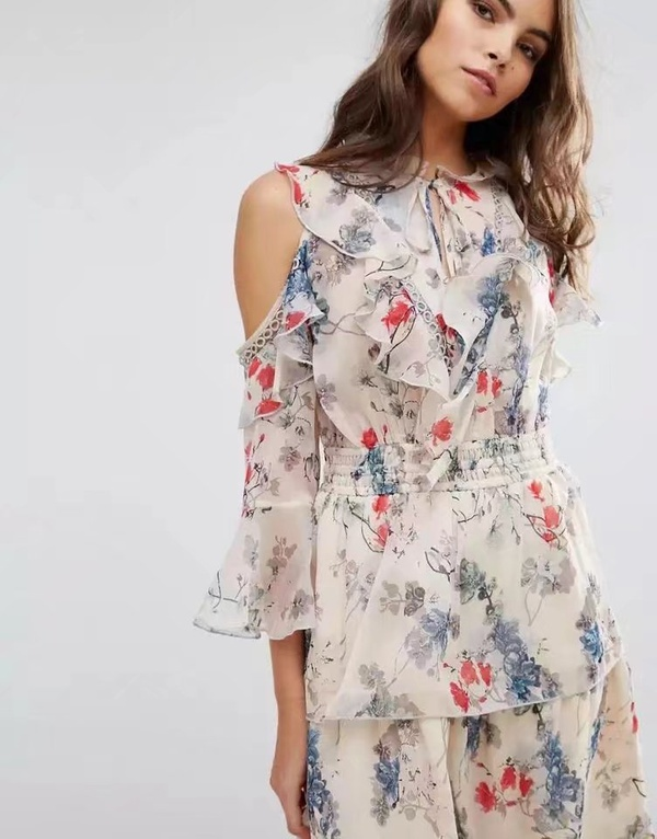 Sexy & Party Chiffon  dress  (Picture color -S)  NHAM1429-Picture color -S