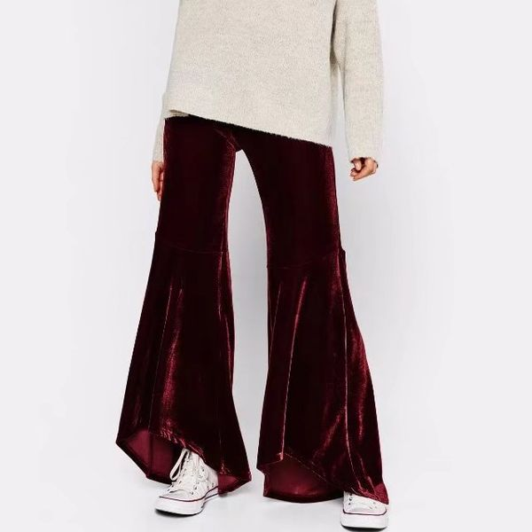 Sexy & Party Polyester  Micro-pants  (Wine red -S)  NHAM1431-Wine red -S