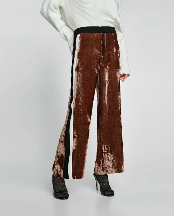 Sexy & Party Polyester  Straight trousers  (Picture color -S)  NHAM1439-Picture color -S