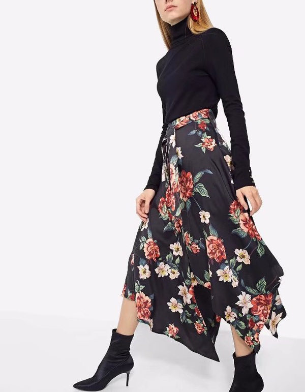 Sexy & Party Chiffon  skirt  (Picture color -S)  NHAM1444-Picture color -S
