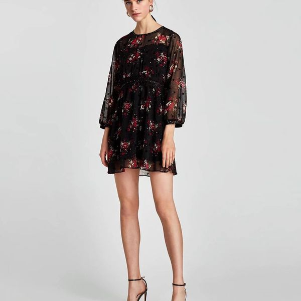 Sexy & Party Chiffon  dress  (Picture color -S)  NHAM1458-Picture color -S