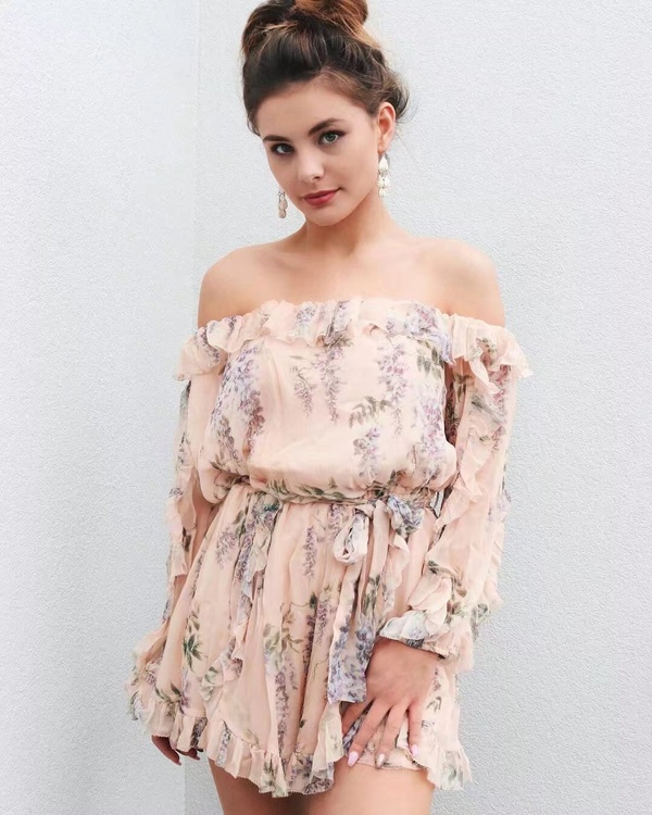 Sexy & Party Chiffon  dress  (Picture color -S)  NHAM1460-Picture color -S